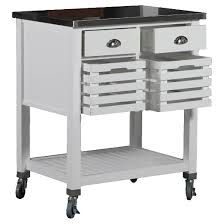 Kitchen Cart Table by 2 Piece Robbin Wood Kitchen Cart Wood White Linon Home Decor