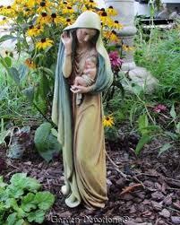 18 madonna w child catholic indoor outdoor garden statue