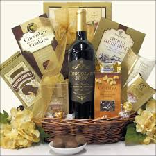 wine and chocolate gift basket sinful chocolate s day wine gift basket
