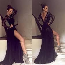 Black Homecoming Dresses With Sleeves Best 25 Black Prom Dresses Ideas On Pinterest Grad Dresses Long