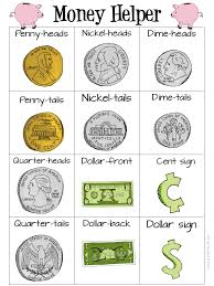 money helper pdf printable to help teach kids about us money and