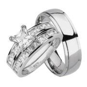 Walmart Wedding Rings Sets For Him And Her by Wedding Rings His U0026 Her Sets