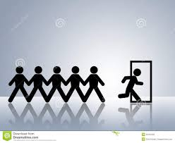 Fire Evacuation Route Plan by Escape Route Exit Door Emergency Evacuation Route Stock