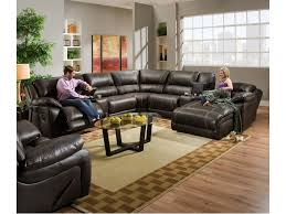 ls for sectional couches united furniture industries 660 casual reclining sectional sofa