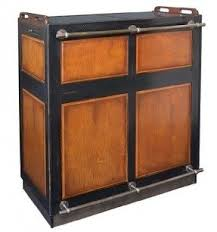 Distressed Wood Bar Cabinet Fold Out Bar Cabinet Foter