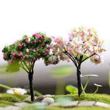 lovely miniature cherry coconut tree plastic crafts kawaii trees