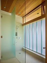 Frosted Frameless Shower Doors by Modern Frosted Glass Designs Bathroom Contemporary With Tile