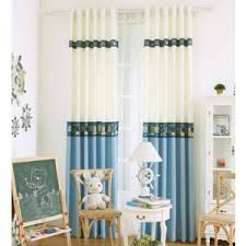 Blue And Yellow Curtains Prints Black And White Cat Unique Cool Cute Modern Kids Curtains