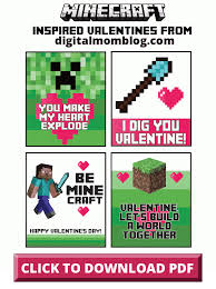 minecraft valentines cards minecraft valentines day cards free print at home your kids