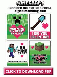 minecraft cards free minecraft valentines printables