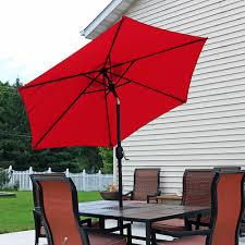 Aluminum Patio Umbrellas by Sunnydaze Aluminum Patio Umbrella U2013 Tilt U0026 Crank U2013 7 5 U0027
