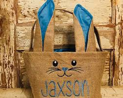 custom easter baskets for kids basket etsy