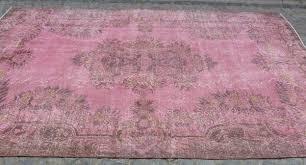 pretty shabby chic pink overdyed area rug 10 x 6 u0027 u2013 sophie u0027s bazaar