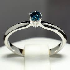 inel diamant inel de logodna din aur cu diamant albastru 009db wedding stuff