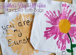 mother u0027s day gift idea hand print tote bags