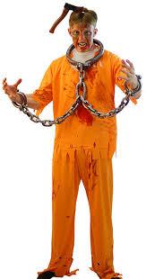 Prisoner Halloween Costumes Halloween Creepy Convict 5 Orange Prisoner Asylum Zombie