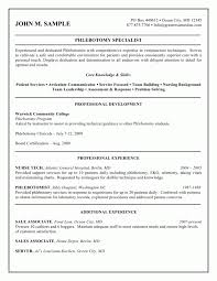 Resume Template For Students With No Experience Perfect Phlebotomist Cover Letter With No Experience 52 For Cover