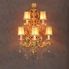 Vintage Wall Sconce Lighting Big Antique Wall Sconce 5 Lamps Large Crystal Lights Vintage Wall