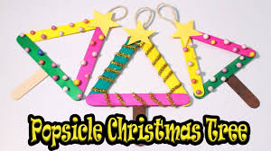how to make popsicle stick christmas tree christmas craft for