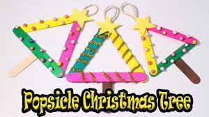 how to make popsicle stick christmas tree christmas craft for