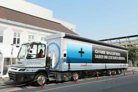 semi trailer truck 18 wheels zero emissions bmw premiers all electric material