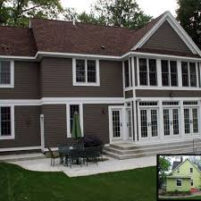 Grey House Paint by Exterior Paint Colors With Brown Roof For The Home Pinterest