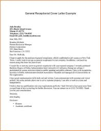 Resume Sample Gym Receptionist by Receptionist Cover Letter For Resume Free Resume Example And
