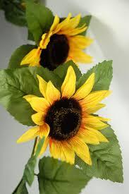 artificial sunflowers garland silk 6ft