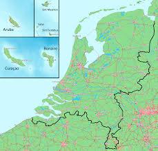 Map Of The Netherlands Big Blue 1840 1940 Netherlands