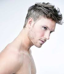 thin blonde hairstyles for men modern pompadour style with thicker and longer top 2017