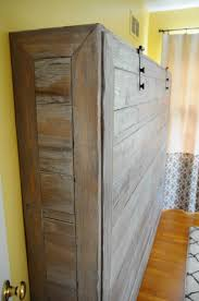 Rustic Bedroom Furniture Diy Rustic Queen Sized Wall Bed Make Panel From Pallet Pieces And Put