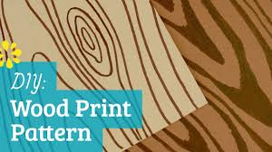 how to make wood print pattern