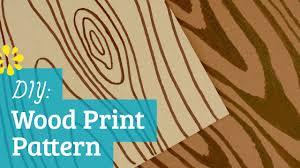 wood print how to make wood print pattern