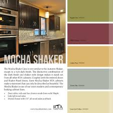 color palette to go with our mocha shaker kitchen cabinet line