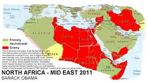 Middle East And North Africa Map Map Of The Results Of Obama U0027s Foreign Policy In North Africa