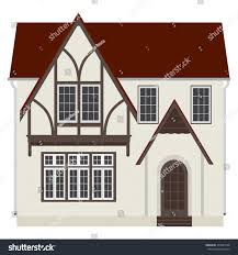 two storey house vector illustration medieval german house fachwerk stock vector