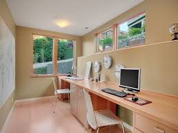 long desk for 2 galley home office with long narrow desk and functional efficieny
