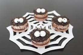 Halloween Spider Cakes by Halloween Spider Macarons Acup4mycake