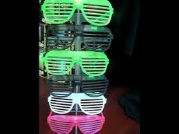 party sunglasses with lights lmfao party rock anthem flashing shutter shade glasses light up