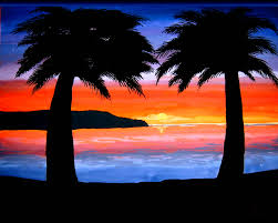 sunset drawing in colored pencil drawing of sketch
