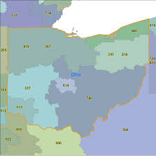 Map Oh Ohio by Ohio Area Code Map My Blog