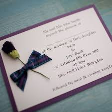 tartan thistle wedding invitation pride of scotland vintage
