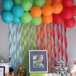baby showers decorations ideas orange blue green balloon and
