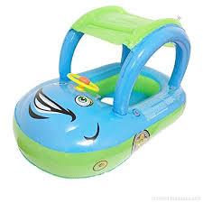 bouée siège pour bébé yezou bouée siège gonflable avec pare soleil pour bébé jeu d eau