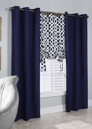 Navy Window Curtains Interior Home Decor Amusing Navy Window Curtains With Stripe