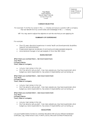 career objective for experienced resume resume for your job