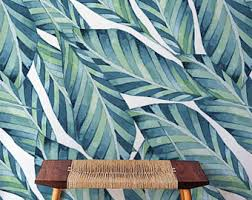 large monstera leaves pattern removable wallpaper exotic wall