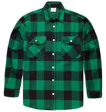 Flannel Shirts Rothco Green Heavyweight S Longsleeve Flannel Shirt