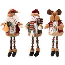 promotion sale santa claus snow reindeer doll