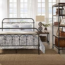 amazon com vintage metal bed frame antique rustic dark bronze